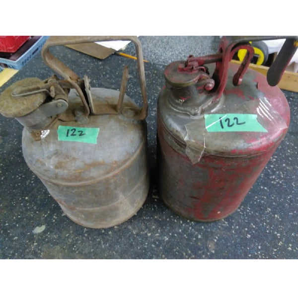 Two metal Non Explosion Fuel Cans - Coast Machinery Group Inc