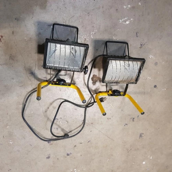 "2 outdoor 8"" adjustable flood lights - Coast Machinery Group Inc"