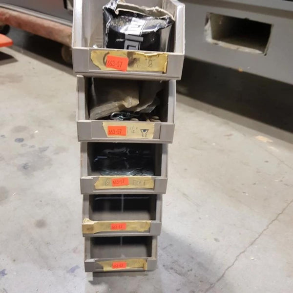 Small Inter-Locking Units (x6) for screws, nuts, etc - Coast Machinery Group Inc