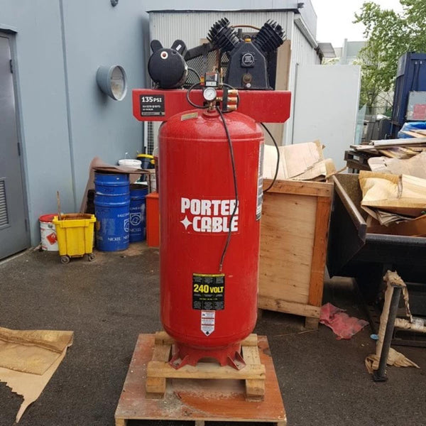 Porter Cable C7510 Vertical 60 Gallon Compressor - Coast Machinery Group Inc