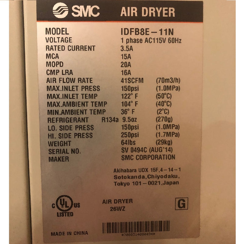 SCM IDFB8E-11N Air Dryer - Coast Machinery Group Inc