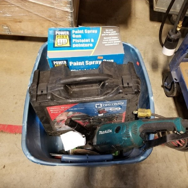 Makita Angle Grinder and Bin of Misc Tools - Coast Machinery Group Inc
