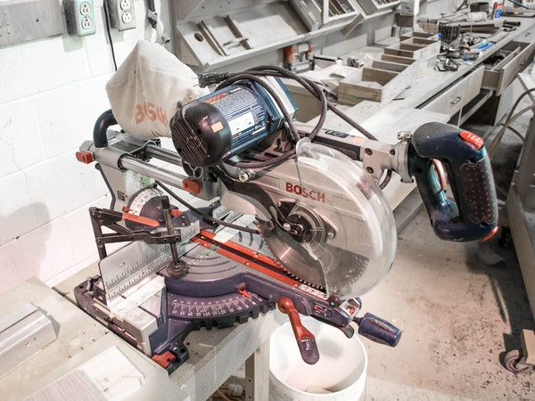 "Bosch 4410L 10"" Dual Bevel Sliding Compound Miter Saw - Coast Machinery Group Inc"