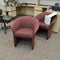 Burgundy Chairs [variant_sku] - Coast Machinery Group Inc