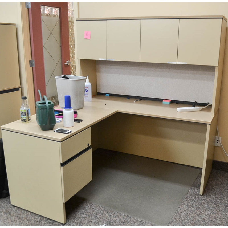 L-Shape Desk with Hutch (left configuration) [variant_sku] - Coast Machinery Group Inc
