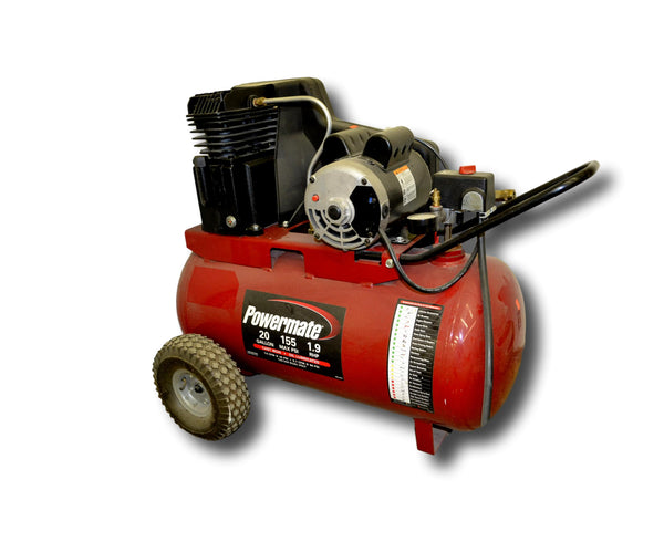 20 Gallon Powermate Cast Iron Oil Lubricated Belt Drive Air Compressor - Coast Machinery Group Inc