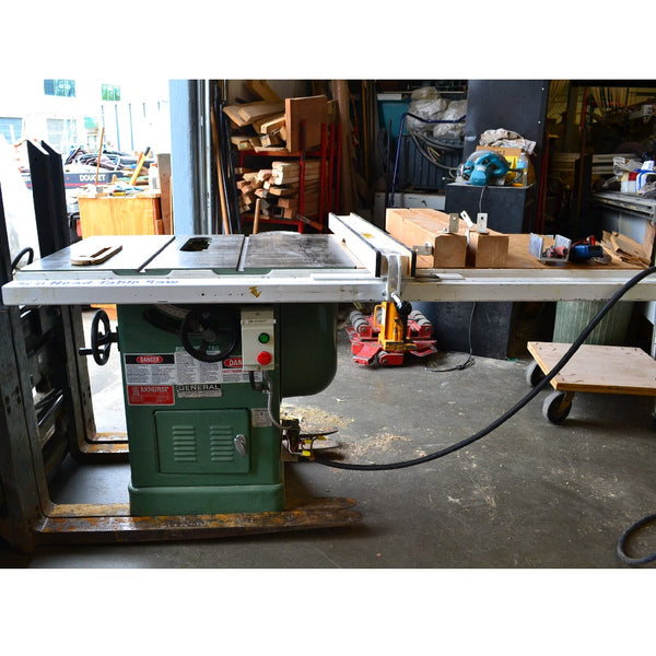 General 10 Inch Table Saw Model 350 - Coast Machinery Group Inc