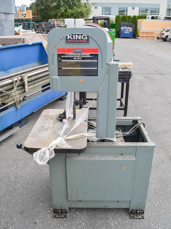 "King 14"" KC-914H Vertical Metal Cutting Bandsaw - Coast Machinery Group Inc"