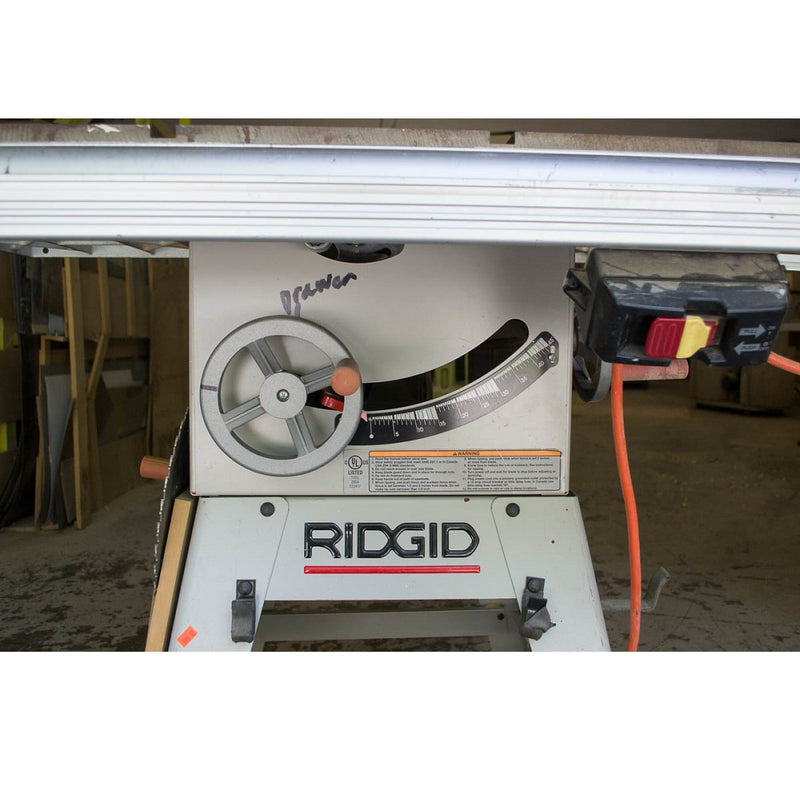 "Ridgid TS3612 10"" Belt Drive Table Saw - Coast Machinery Group Inc"
