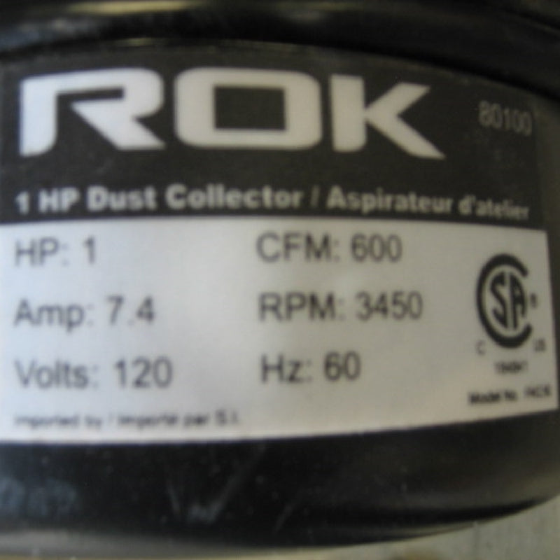 ROK FM230 1HP Dust Collector - Coast Machinery Group Inc
