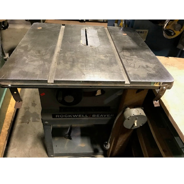 Rockwell Beaver Table Saw - Coast Machinery Group Inc