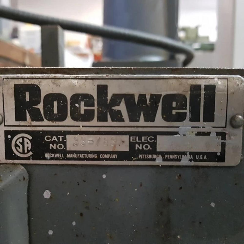Rockwell 14-RAS Radial Arm Saw - Coast Machinery Group Inc