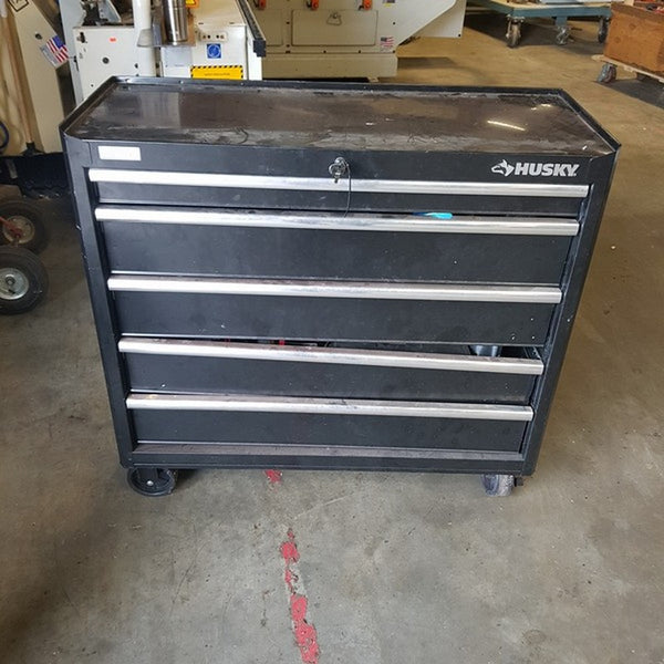 Husky 5 Drawer Toolbox on Wheels w/ Random Tools - Coast Machinery Group Inc