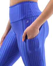 SALE! 50% OFF! Firenze Activewear Capri Leggings - Blue [MADE IN ITALY]