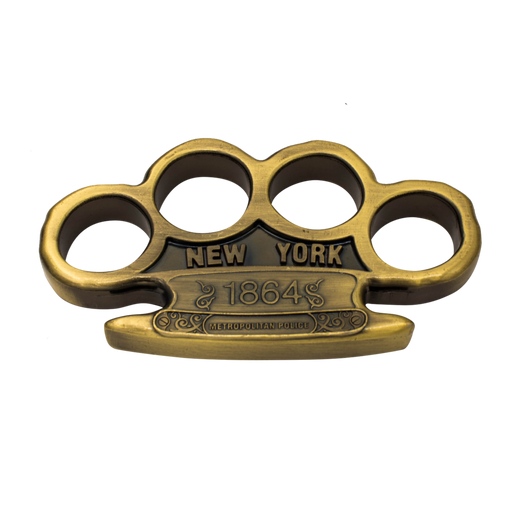1864 New York Metro Police Reinforced Aluminum Knuckles - Knockout Knucks