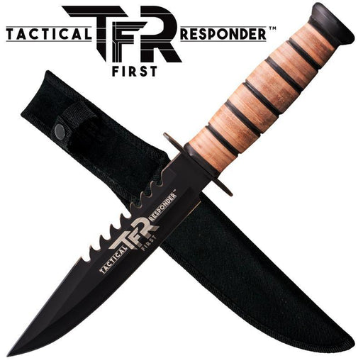 Tactical First Responder™ (TFR) Military Knife W/ Free Hard Sheath