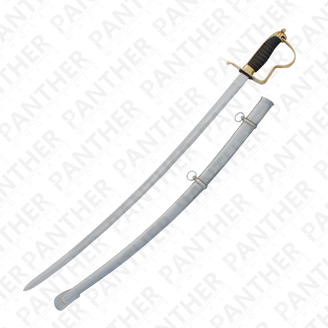Civil War Sabre With Carbon Steel Scabbard - Knockout Knucks