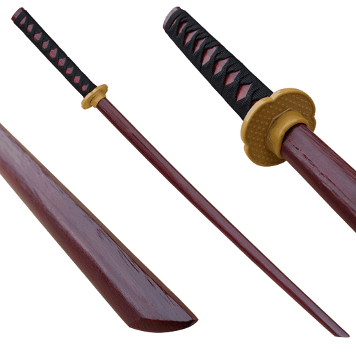 Dark Brown Bokken Wood Practice Sword - Knockout Knucks