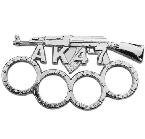 AK47 Brass Knuckles - Silver - Knockout Knucks