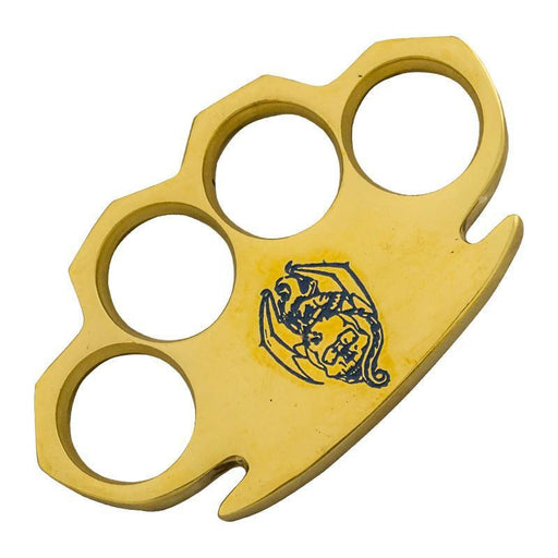 Bat Blue Real Brass Knuckles - Knockout Knucks