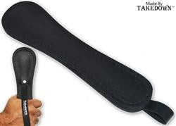 "11"" Takedown Real Leather Slapper (Slap Jack) - Black - Knockout Knucks"