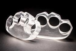 Clear Lexan Knuckles - Knockout Knucks