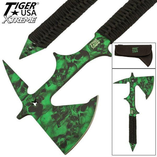 Gothic Throwing Tomahawk Tactical Outdoors Axe - Knockout Knucks