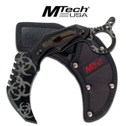 M-Tech ZOMBIE Fixed Blade Karambit - Knockout Knucks