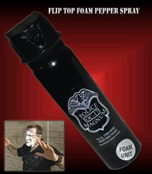 Police Foam Pepper Spray -Twist Lock 4oz - Knockout Knucks