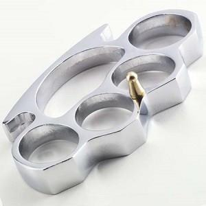 Real Classic Knuckles - Silver-Knockout Knucks