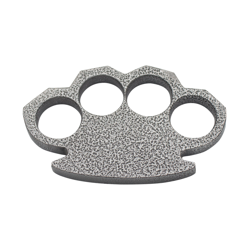 Steam Punk Compact Gray Aluminum Knuckles-Knockout Knucks