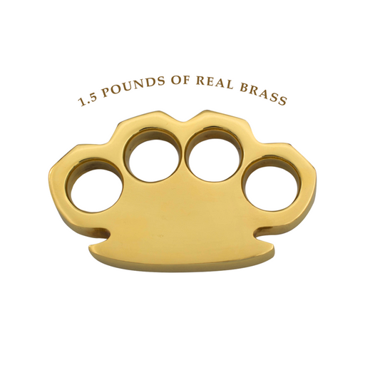 The Hammer First Brass Knuckles - 1.5 lbs REAL Brass-Knockout Knucks