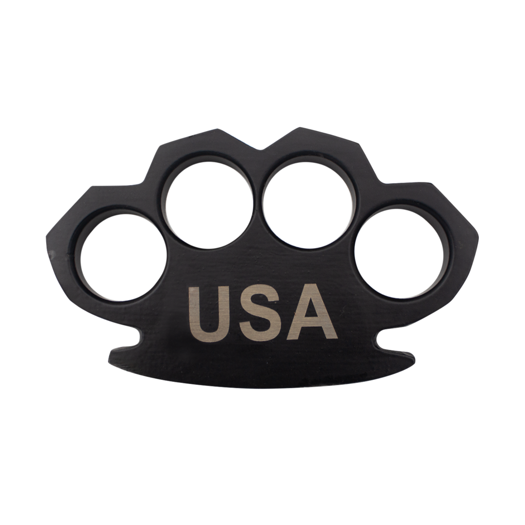 USA Steam Punk Black Solid Steel Knuckles-Knockout Knucks