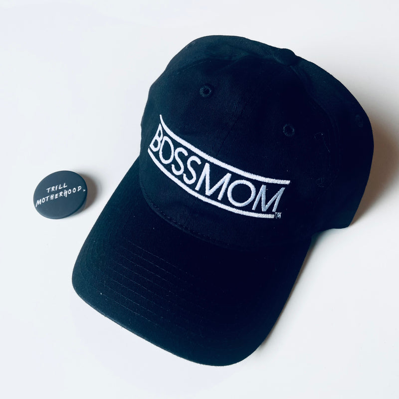 BOSSMOM Embroidered Dad Hat Black