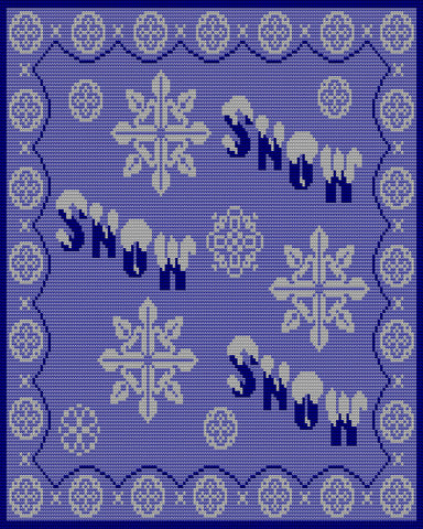 Snow Snow Snow - Blanket Afghan - Tunisian or Single Crochet - Pattern and Charts
