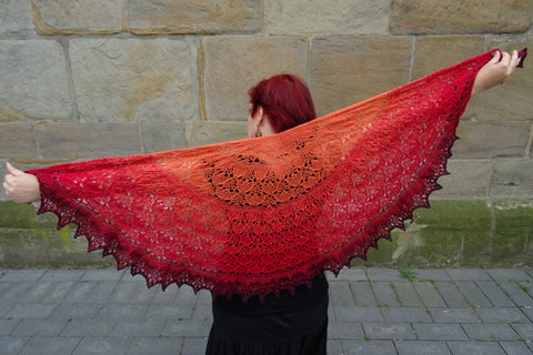 Fire Dragon Shawl