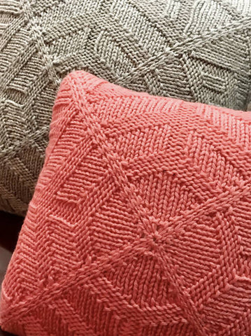 Center City Pillow Covers Knitting Pattern
