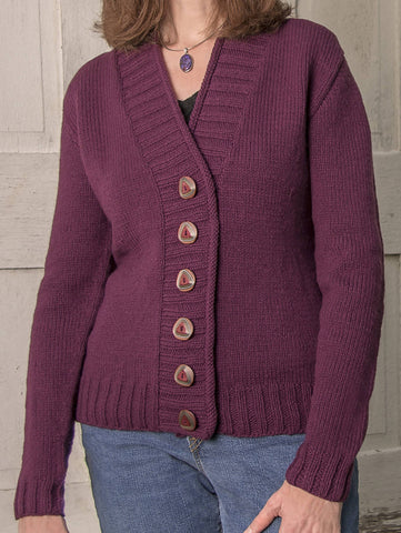 Cambridge Top-Down Cardigan #B104