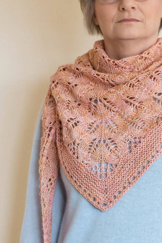 Faded Rose Shawl