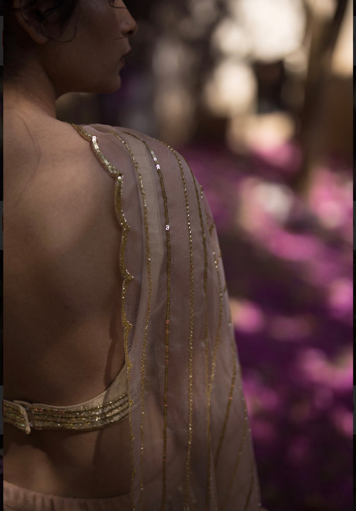 Load image into Gallery viewer, BEIGE LINE LEHENGA