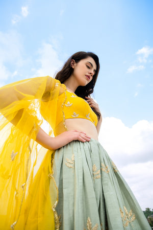 Load image into Gallery viewer, AZURE LEHENGA