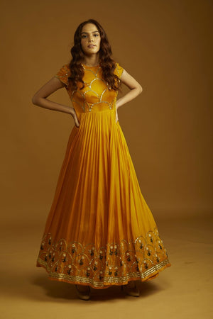 Pleat Anarkali