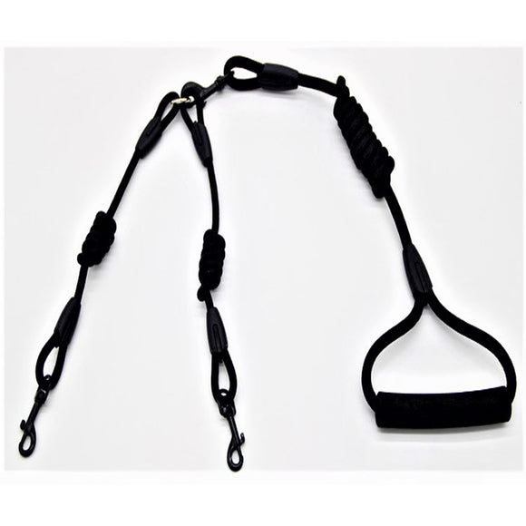 Black Dual Dog Lead Leash