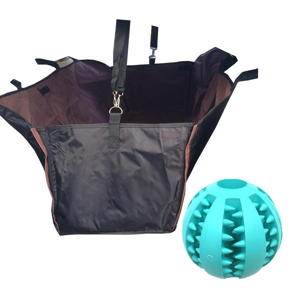 Waterproof Dog Car Seat Cover + Chew Bite Ball