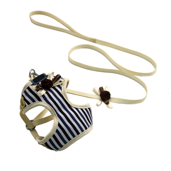 Black Striped Tangle-Free Puppy Tracking Harness