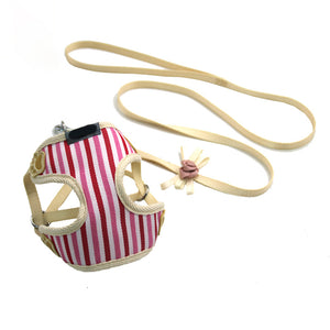 Pink Striped Tangle-Free Puppy Tracking Harness