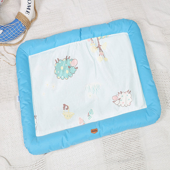 Washable Blue Cooling Summer Pet Mat
