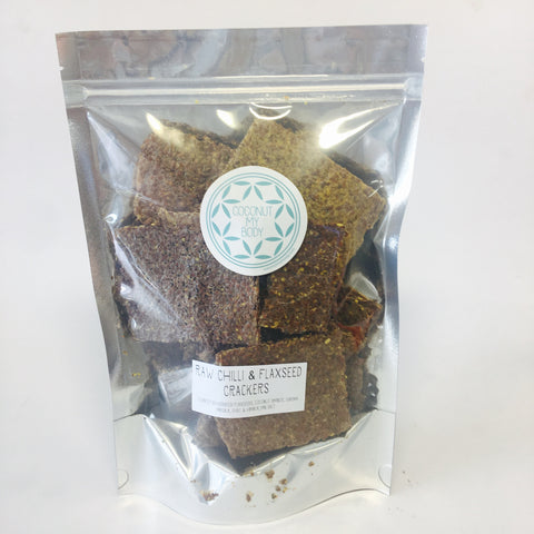 Raw Chilli & Flaxseed Crackers