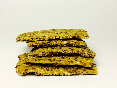 Raw Herb & Zucchini Crackers