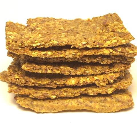 Raw Herb & Carrot Crackers